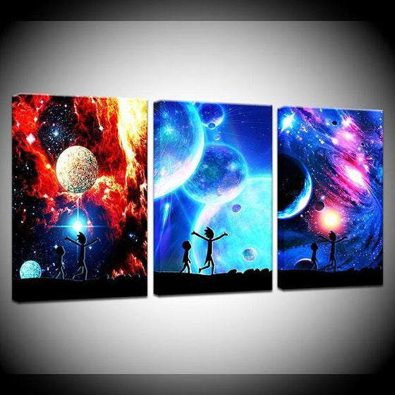Rick And Morty Wall Art With Frames Decors