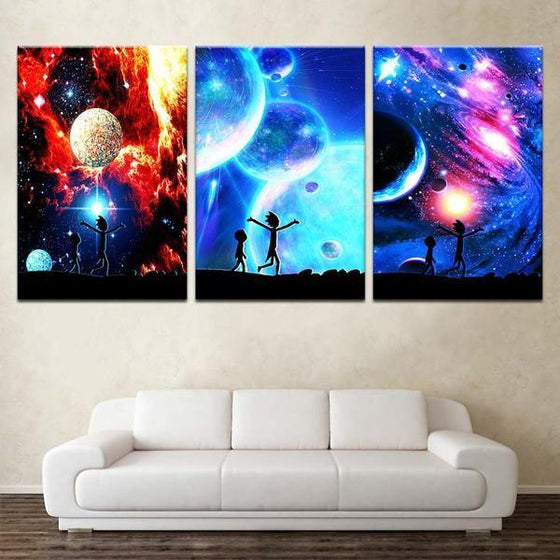Rick And Morty Wall Art With Frames