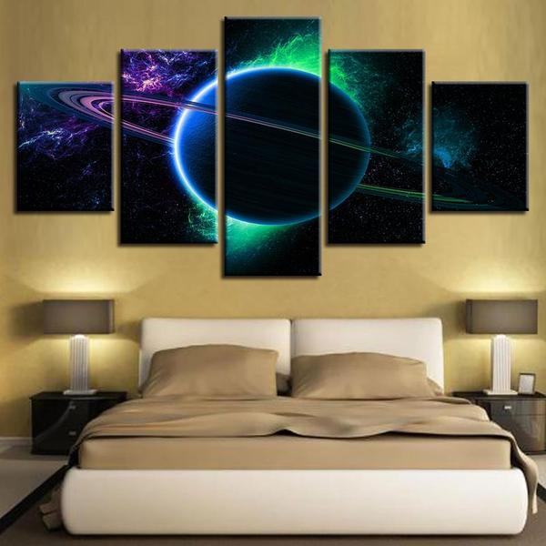 Ringed Planet Wall Art Bedroom