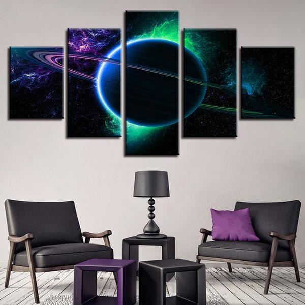Ringed Planet Wall Art Canvas