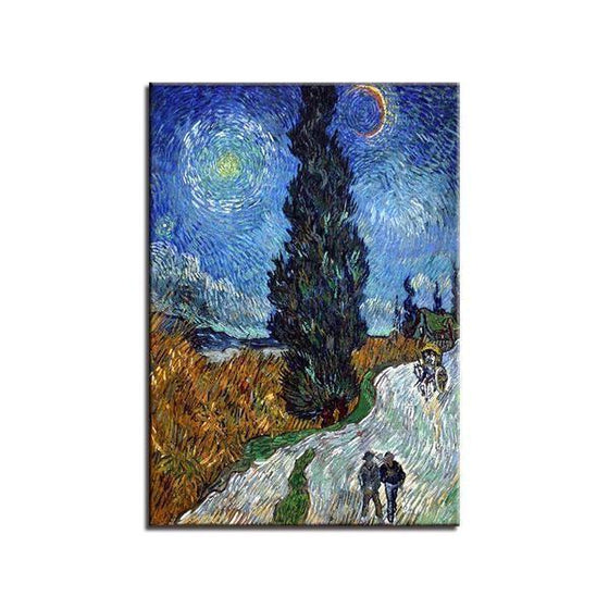 Road To Provence Van Gogh Wall Art Canvas