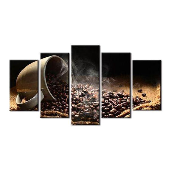 Roasted Coffee Beans Canvas Wall Art