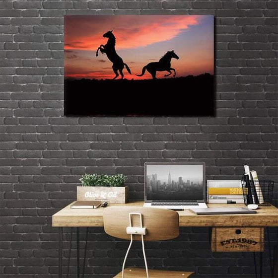 Running Wild Horses Canvas Wall Art Bedroom