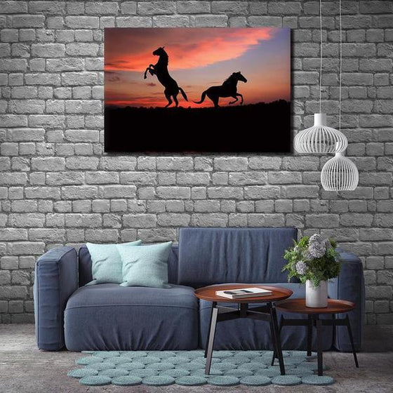 Running Wild Horses Canvas Wall Art Print