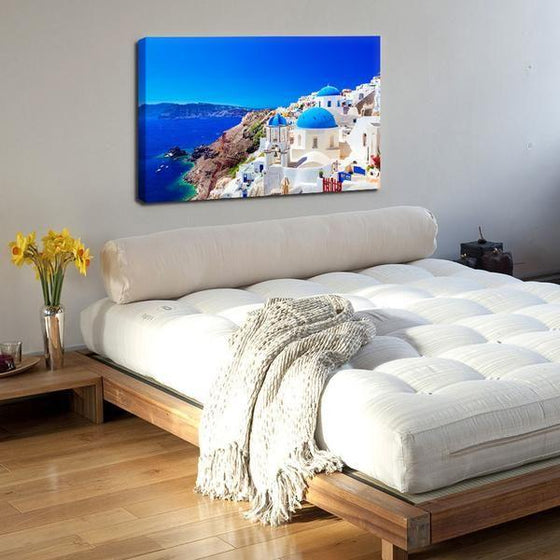 Santorini Greece View Wall Art Bedroom