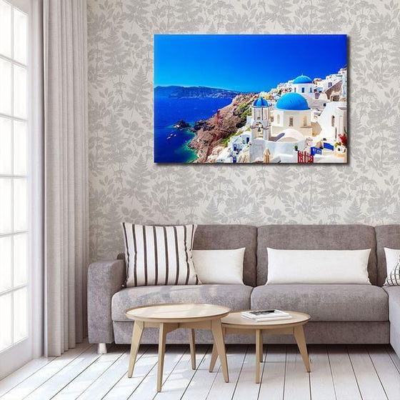 Santorini Greece View Wall Art Decor
