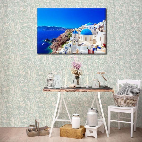 Santorini Greece View Wall Art Ideas