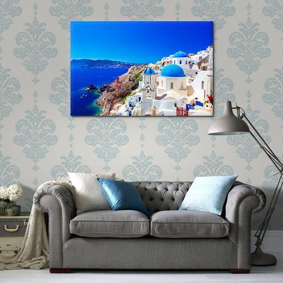 Santorini Greece View Wall Art Print
