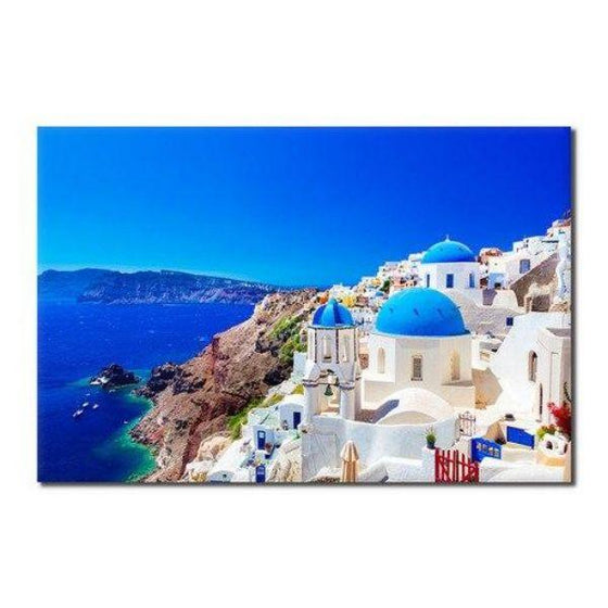 Santorini Greece View Wall Art
