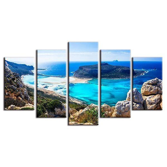 Scenic Blue Beach Canvas Wall Art