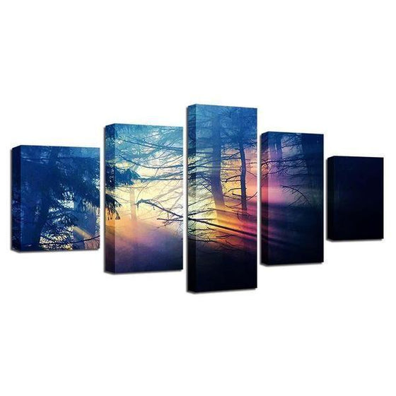 Scenic Forest Sunset Canvas Wall Art Ideas