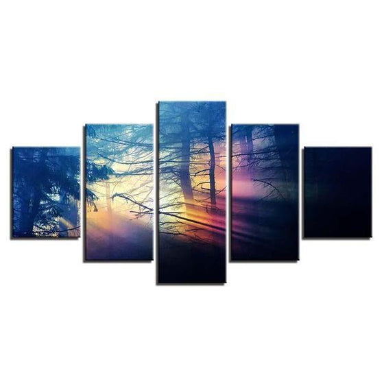 Scenic Forest Sunset Canvas Wall Art
