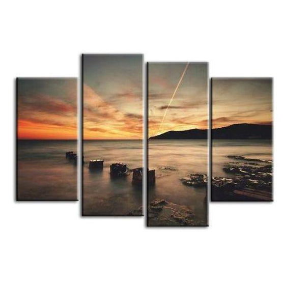 Scenic Sunset Rays Canvas Wall Art