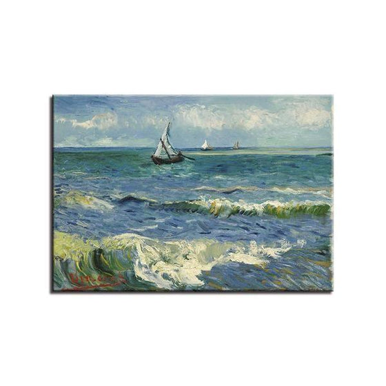 Seascape At Saintes Maries Wall Art Canvas