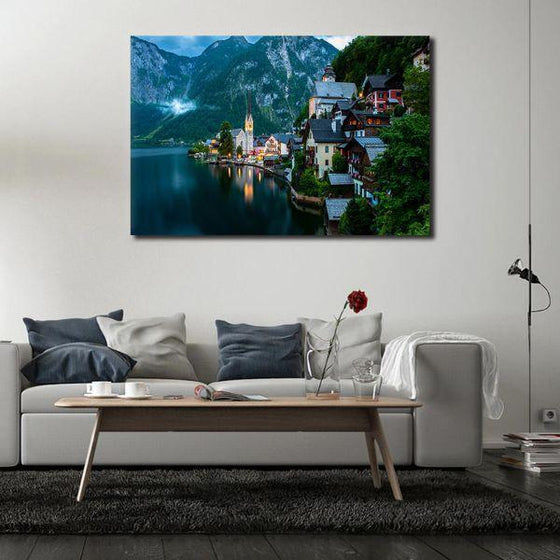 Seaside Village Wall Art Canvas