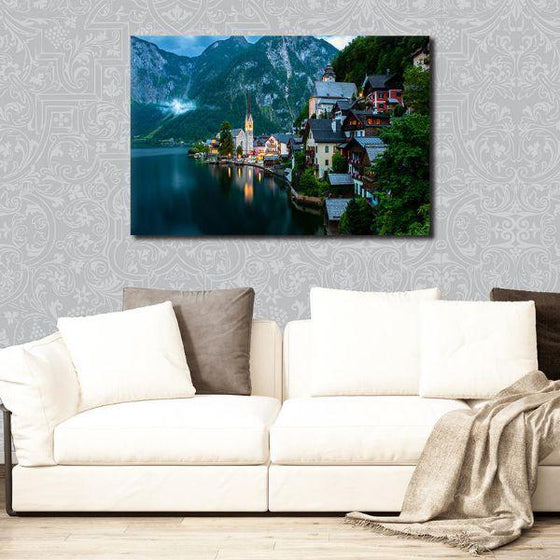 Seaside Village Wall Art Print