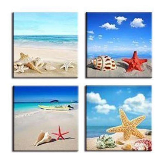 Shells & Starfish Canvas Wall Art