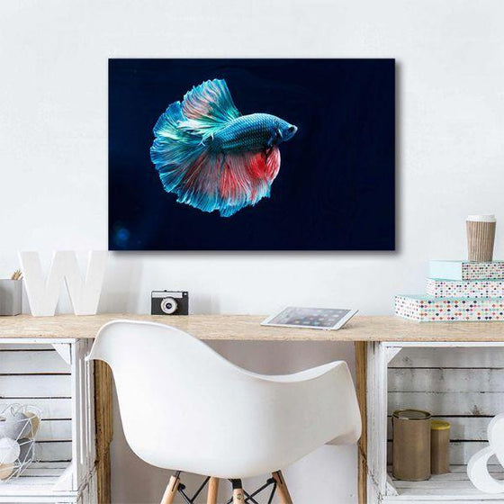 Siamese Fighting Fish Canvas Wall Art Office