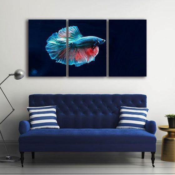 Siamese Fighting Fish Canvas Wall Art Decor