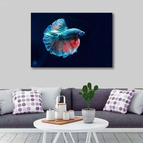 Siamese Fighting Fish Canvas Wall Art Living Room
