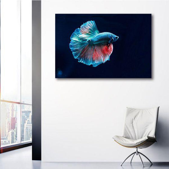 Siamese Fighting Fish Canvas Wall Art Bedroom