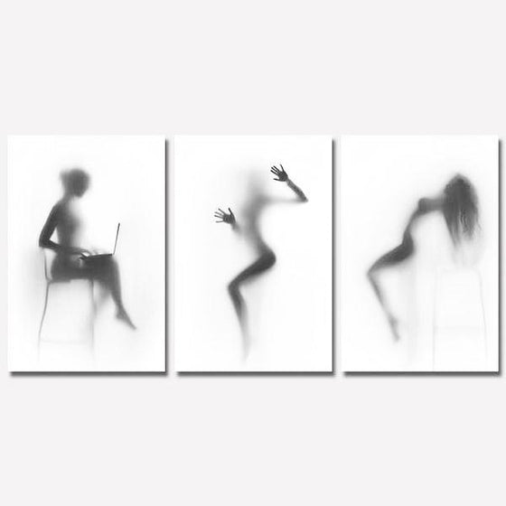 Silhouette Of A Modern Woman Wall Art