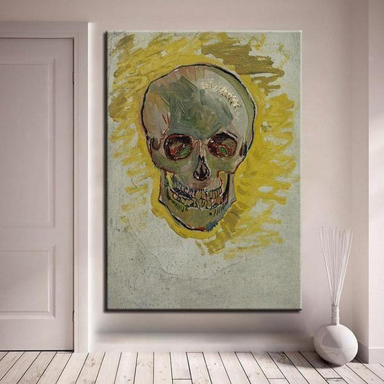 Skull Head Van Gogh Wall Art Bedroom