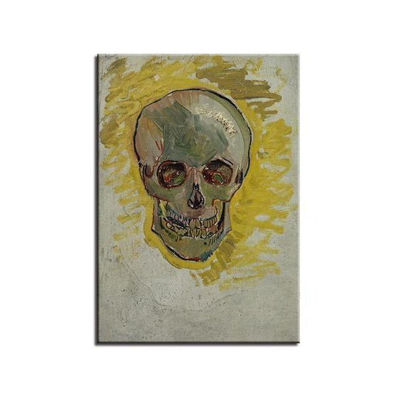 Skull Head Van Gogh Wall Art Canvas