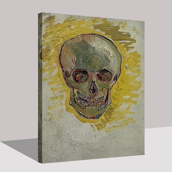 Skull Head Van Gogh Wall Art Decor