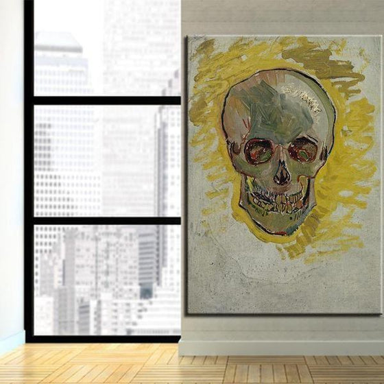 Skull Head Van Gogh Wall Art Living Room