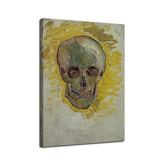 Skull Head Van Gogh Wall Art Print