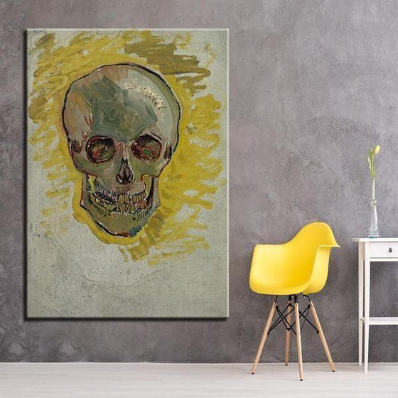Skull Head Van Gogh Wall Art