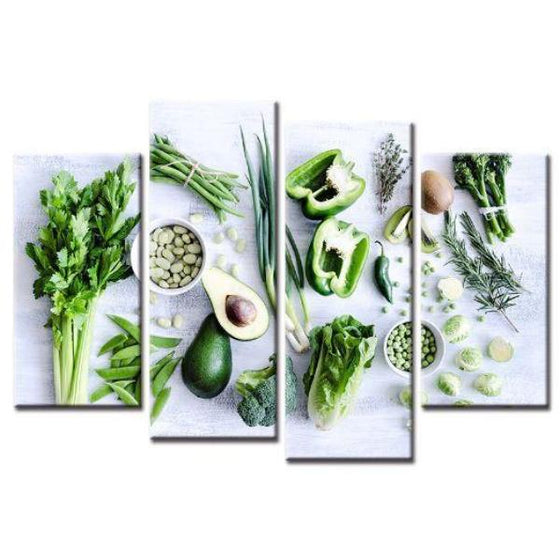 Sliced Healthy Greens Wall Art