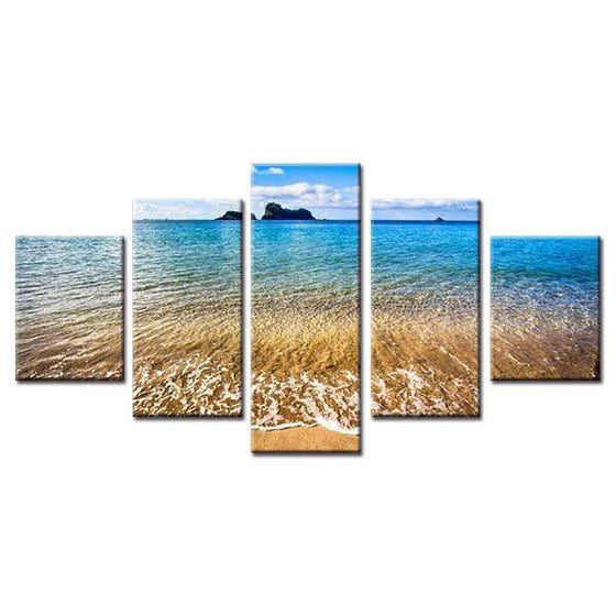 Slow Scenic Beach Waves Canvas Wall Art