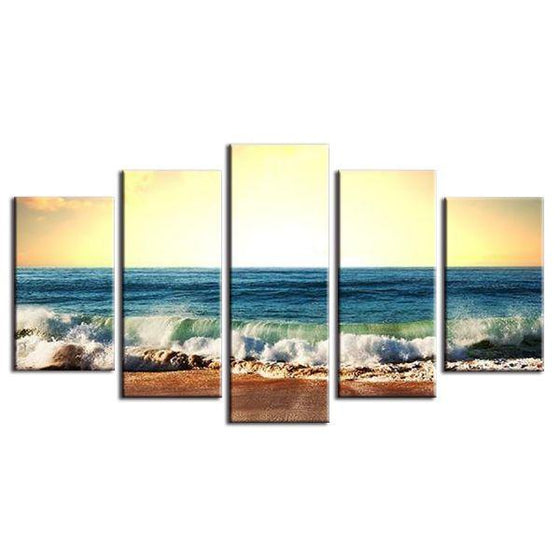 Cool Foamy Beach Waves Canvas Wall Art Ideas