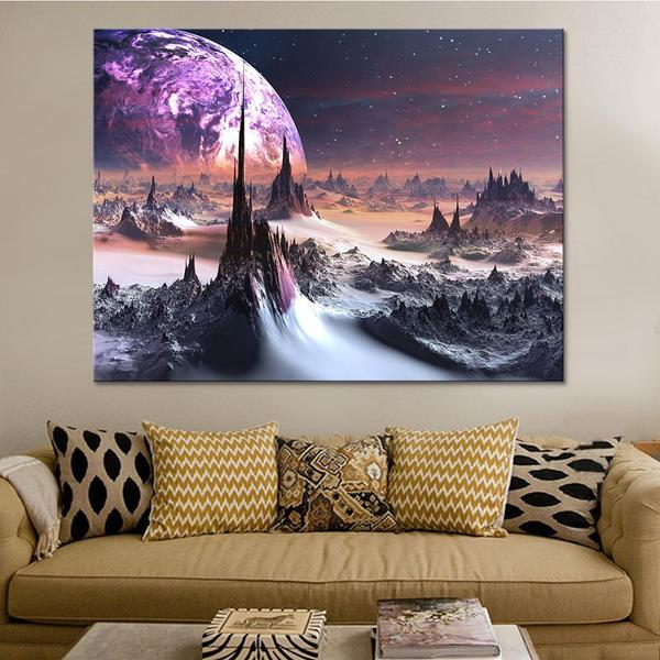 Snowy Planet Wall Art Print