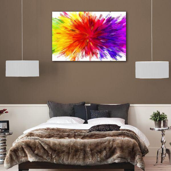 Surprising Splash Of Colors Abstract Canvas Art Home Interior And Landscaping Staixmapetitesourisinfo