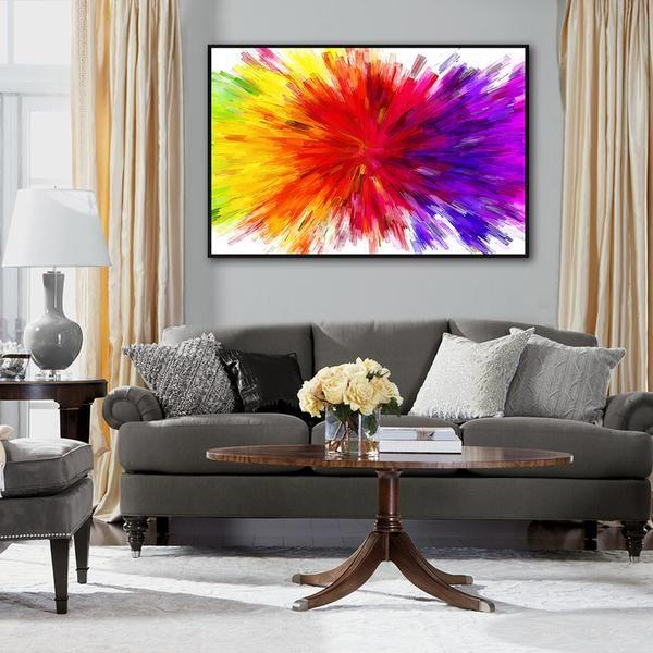 Astounding Splash Of Colors Abstract Canvas Art Home Interior And Landscaping Staixmapetitesourisinfo