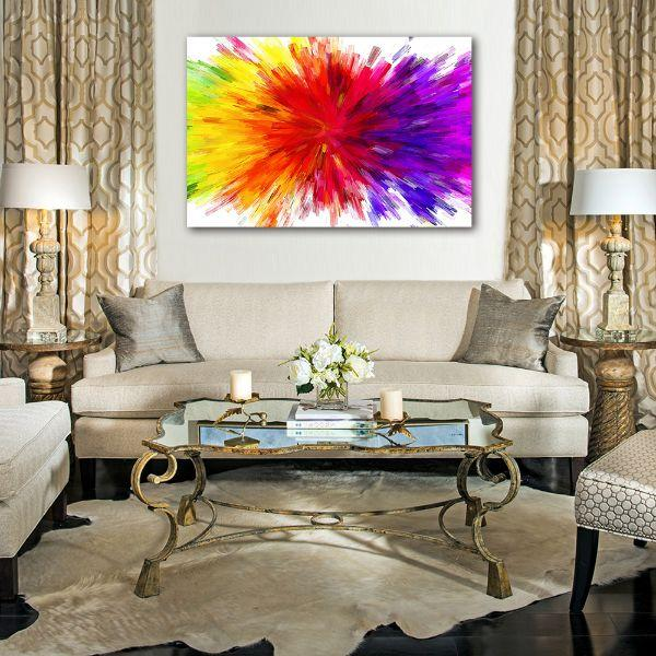 Tremendous Splash Of Colors Abstract Canvas Art Home Interior And Landscaping Staixmapetitesourisinfo