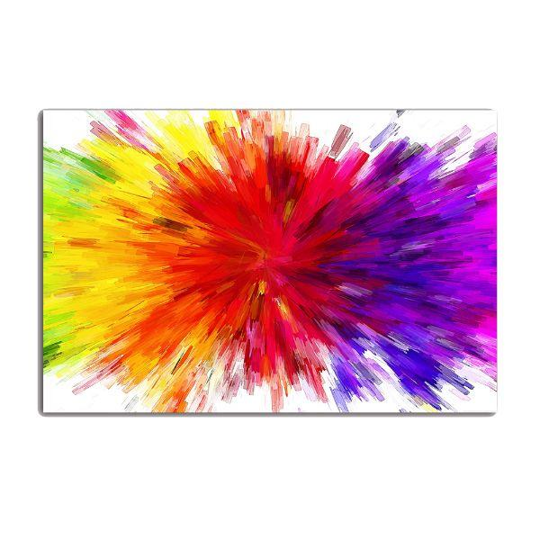 Splash Colorful Room Wall: Splash Of Colors Abstract Canvas Wall Art