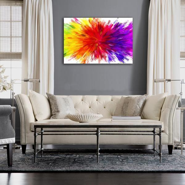 Excellent Splash Of Colors Abstract Canvas Art Home Interior And Landscaping Staixmapetitesourisinfo