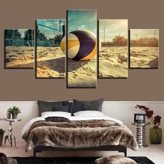Beach Volleyball Canvas Wall Art Bedroom