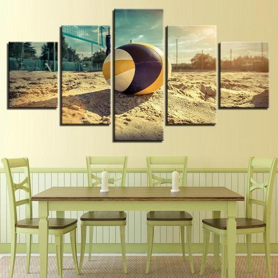Beach Volleyball Canvas Wall Art Dining Room