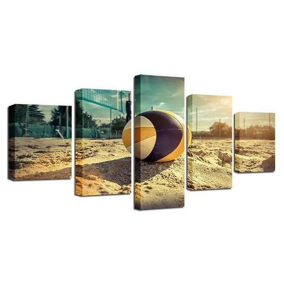 Beach Volleyball Canvas Wall Art Prints