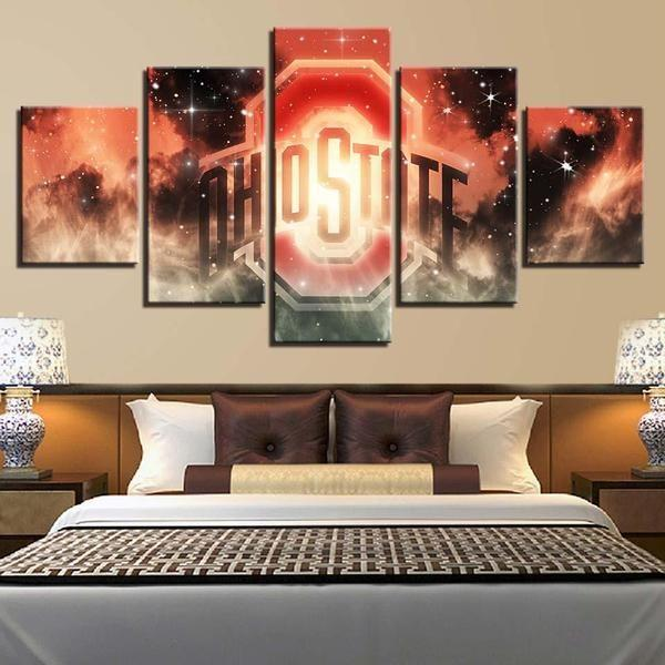 Sports Memorabilia Wall Art Idea