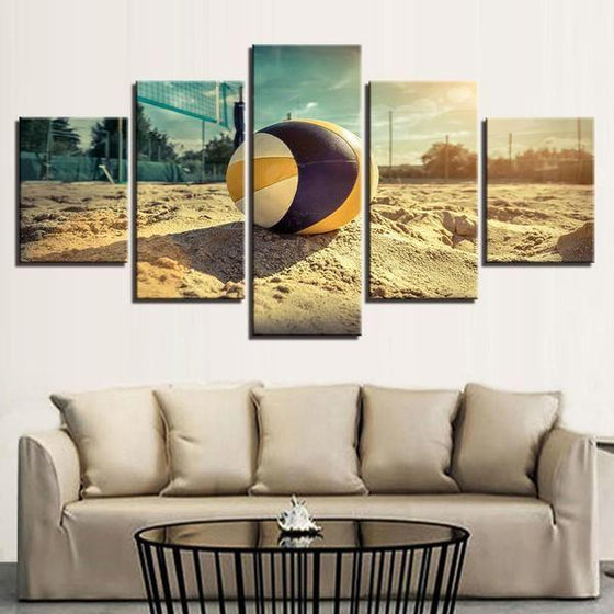 Beach Volleyball Canvas Wall Art Living Room