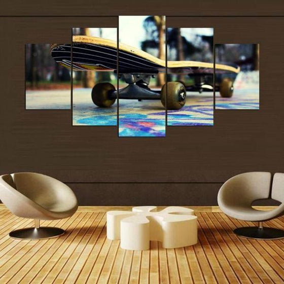 Colorful Floor Skateboard Canvas Wall Art Home Decor
