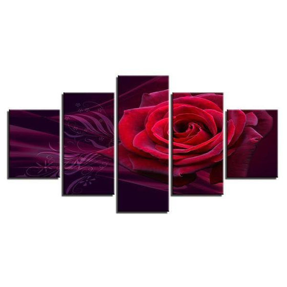 Red Rose Canvas Wall Art Prints