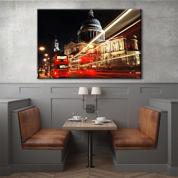 Get St. Paul's Cathedral At Night Canvas Wall Art