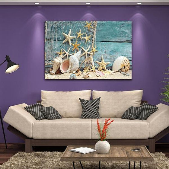 Starfish And Seashells Canvas Wall Art Ideas